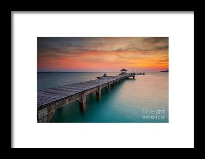Sun Down Framed Prints