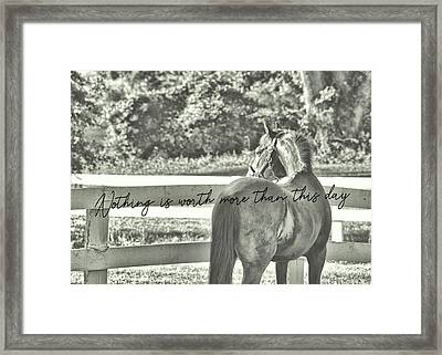 Summer's Eve Quote Framed Print by JAMART Photography
