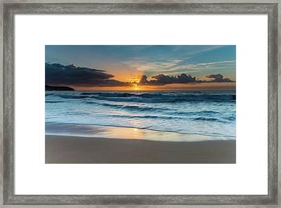 Sun Glow Seascape Framed Print