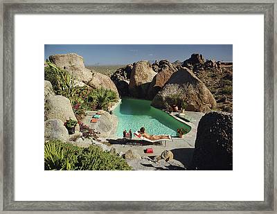 Sunbathing In Arizona Framed Print