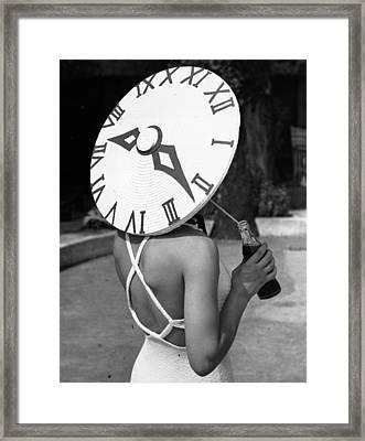 Sundial Hat Framed Print
