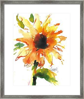 Sunflower Too - A Study Framed Print
