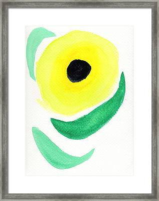 Framed Print featuring the painting Sunflower by Bee-Bee Deigner