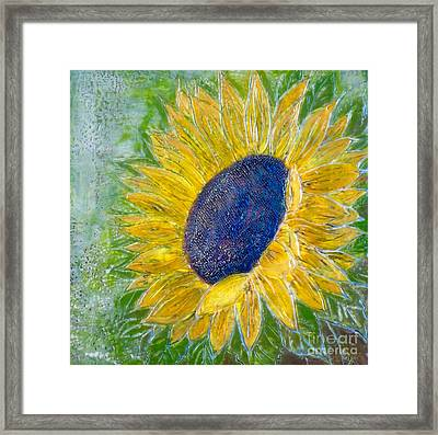 Sunflower Praises Framed Print