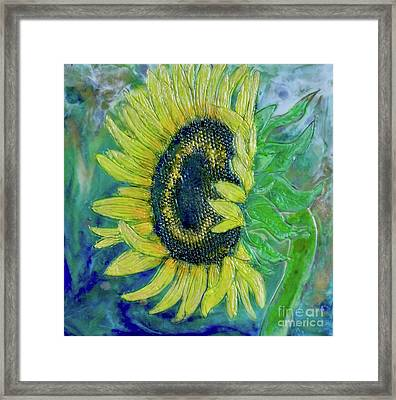 Sunflower Smiles Framed Print