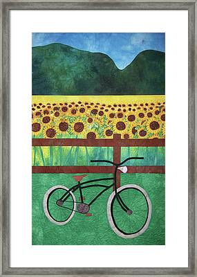 Sunflowers At Whitehall Farm Framed Print
