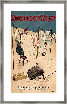 Sunlight Soap Framed Print by Hulton Archive