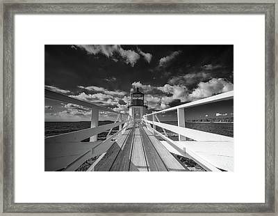 Framed Print featuring the photograph Sunny Skies At Marshall Point In Black And White by Rick Berk