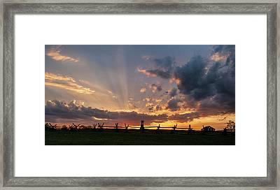 Sunrays At Sunset Framed Print