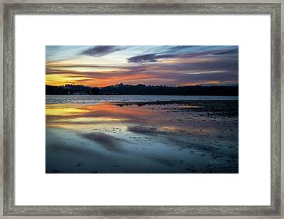 Framed Print featuring the photograph Sunrise At Low Tide by Bill Posner