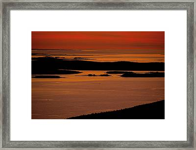 Sunrise Cadillac Mountain Framed Print