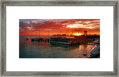 Sunrise In Cancun Framed Print
