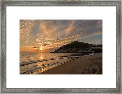 Sunrise On The Beach Of The Genoveses Of Cabo De Gata Framed Print