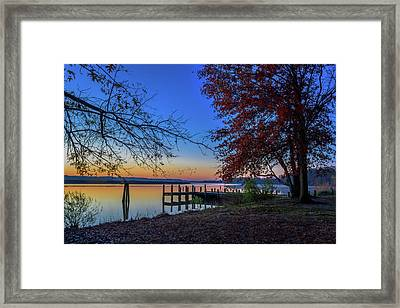Framed Print featuring the photograph Sunrise On The Patuxent by Cindy Lark Hartman