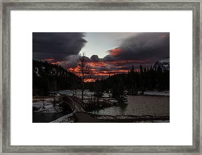 Sunrise Over Cascade Ponds, Banff National Park, Alberta, Canada Framed Print