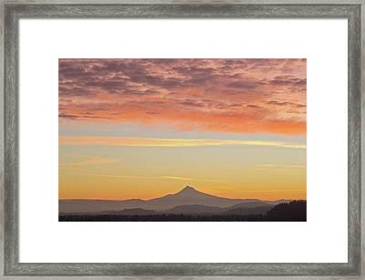Sunrise Over Mount Hood From Mount Tabor Framed Print by Design Pics / Dan Sherwood