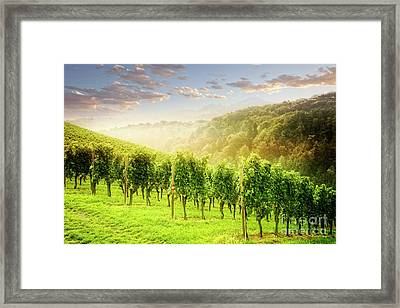 Framed Print featuring the photograph Sunrise Over Styria by Scott Kemper