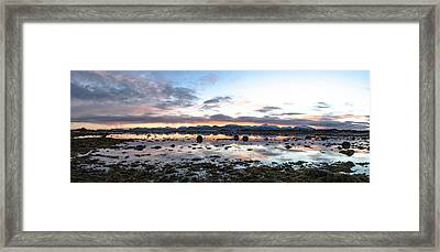 Sunrise Over The Marsh Framed Print