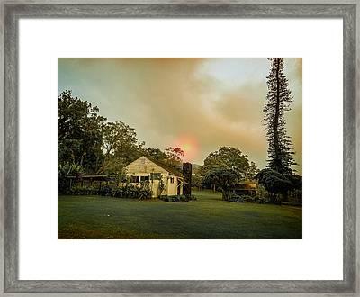 Sunrise Through The Haze Framed Print