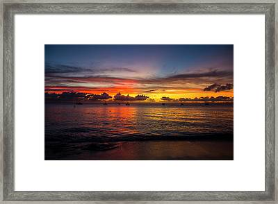 Sunset 4 No Filter Framed Print