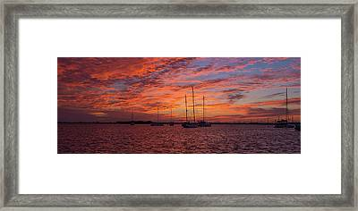Framed Print featuring the photograph Sunset Across The Keys by Mark Duehmig