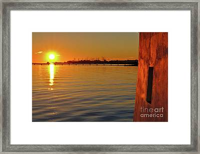 Sunset And Old Watermill Framed Print