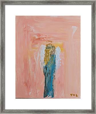 Sunset Angel Framed Print