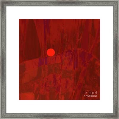 Sunset As Siler Metaphorm Framed Print