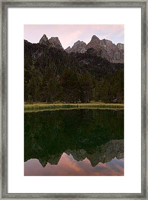 Framed Print featuring the photograph Sunset At Ibonet De Batisielles by Stephen Taylor