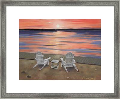 Sunset At Mairs Framed Print
