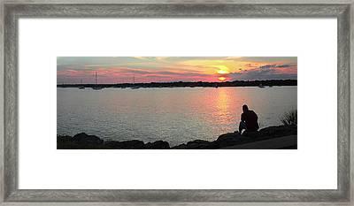 Sunset At The Park Framed Print