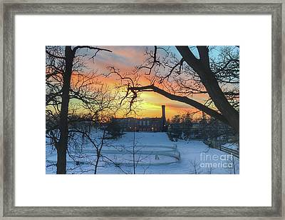 Sunset At The Pit Framed Print