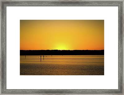 Sunset From National Harbor Framed Print