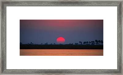 Sunset In Botswana Framed Print