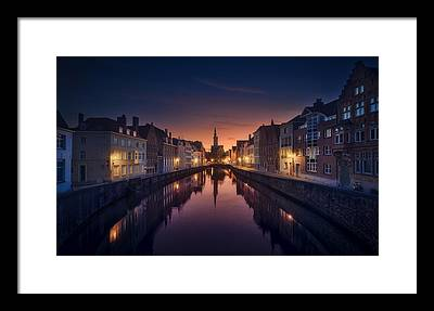 Brugge Framed Prints