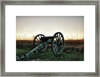 Sunset In Defense Framed Print