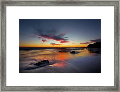Sunset In Malibu Framed Print