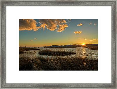 Sunset In The Natural Park Of Prat De Cabanes Framed Print