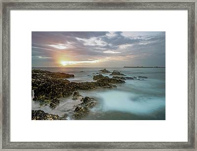 Framed Print featuring the photograph Sunset Matosinhos by Bruno Rosa