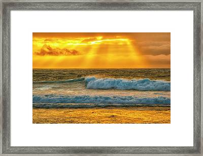 Sunset On A Rainy Day Framed Print by Fernando Margolles