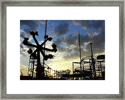 Sunset On Coney Island Framed Print