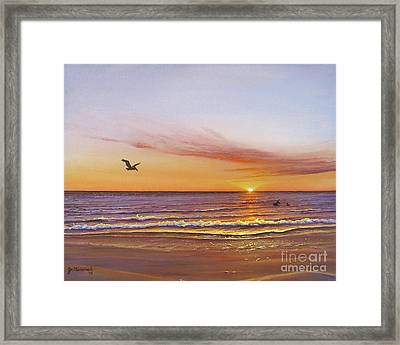 Sunset On The Gulf Framed Print
