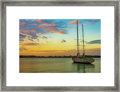 Sunset On The Lagoon Framed Print