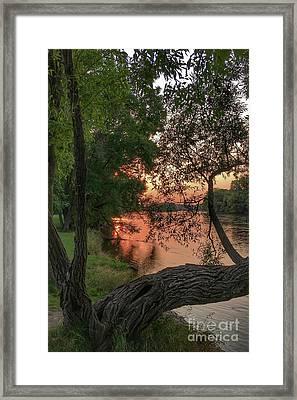 Sunset On The Mississippi Framed Print