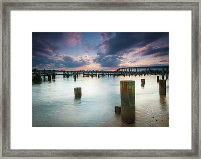 Framed Print featuring the photograph Sunset On The Severn River by Mark Duehmig