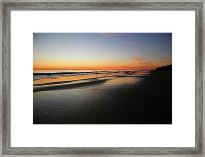Sunset Over Avalon Framed Print by Robin Street-Morris