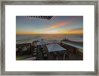 Framed Print featuring the photograph Sunset Vibes by Bruno Rosa
