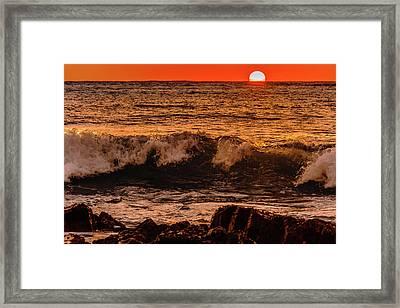 Sunset Wave Framed Print