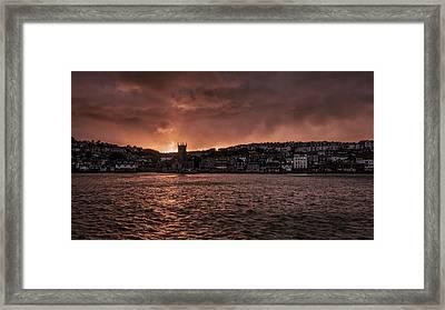 Sunset Harbour Framed Print