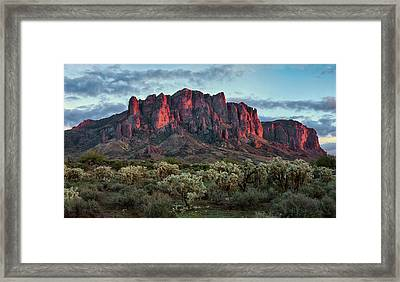 Superstition Mountains Colors Framed Print